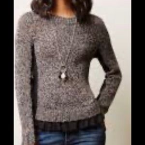 Moth Grey Sz Large sweater Ruffle Bottom
